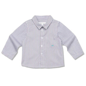FINE COTTON CHECK  SHIRT - BROWN CHECK - BABY