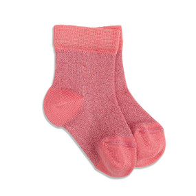 BABY SPARKLE SOCK - CORAL