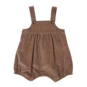Cord Romper - Chocolate