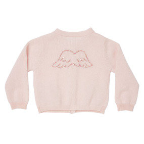 Mini Angel Wing Cashmere Cardigan - Pale Pink