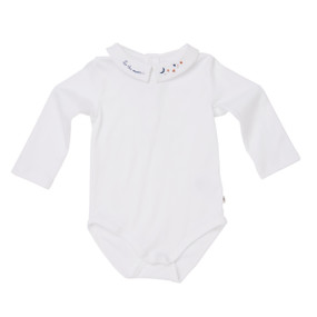 "Baby Boy ""Stars to the Moon"" Onesie - White"