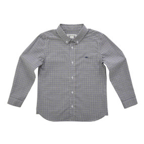 Checkered Button Down Shirt - Grey/Navy