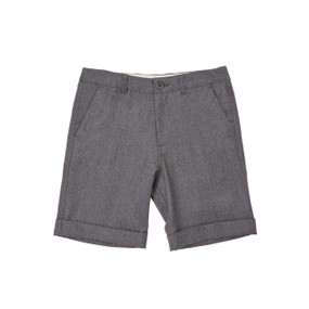 Flannel Formal Shorts - Grey