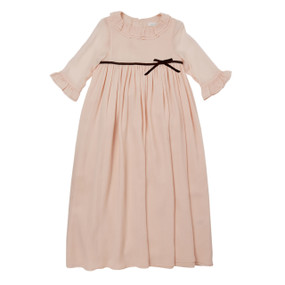 Long Silk Princess Dress - Pale Pink