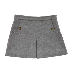 Wool-Cashmere Skirt - Dove Grey