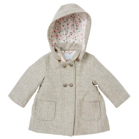 Mini Heather Grey Coat with Hood