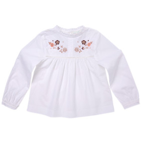 Embroidered Blouse - White