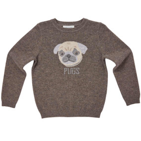 Pug Cashmere Sweater - Chocolate