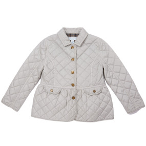 Waterproof Quilted Jacket - Pale Grey