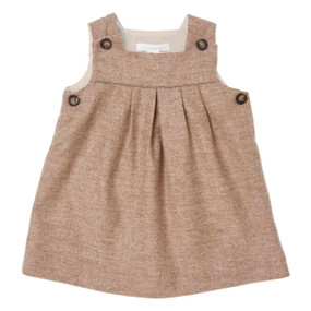 Mini Wool-Cashmere Pinafore - Chocolate