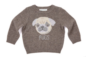 Mini Pug Cashmere Sweater - Chocolate
