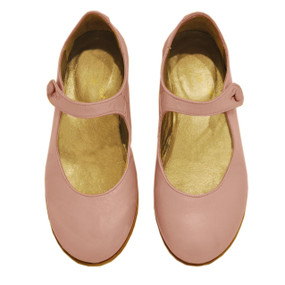 Pink Leather Mary Janes - Dusty Pink