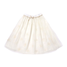 Mid-Length Ivory Tutu Skirt