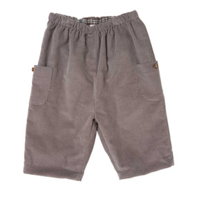 Baby Cord Pull-On Pants - Grey