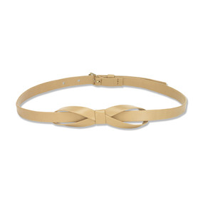 BOW BELT - BEIGE