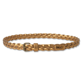 PLAITED BELT - BRONZE