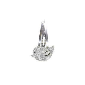 Bird Hairclip - Silver