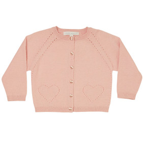 Alexa - Pointelle Cardigan - Powder Pink