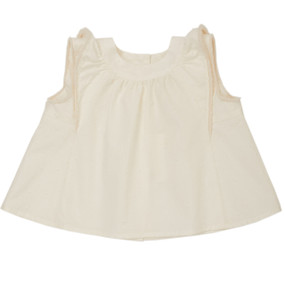 Annette - Plumetti Top  - White