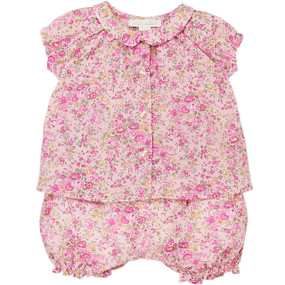 Arabella - Liberty Top with Bloomer Set - Pink Liberty