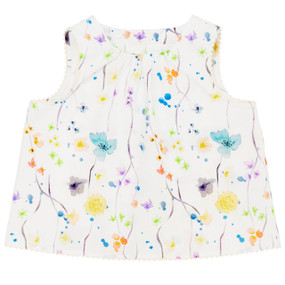 Ariana - Baby Sleeveless Top - Blue Herbarium