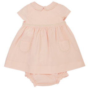 Amy - Poplin Dress with Bloomer - Pink