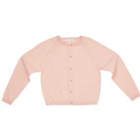 Amity - Pointelle Cardigan - Powder Pink
