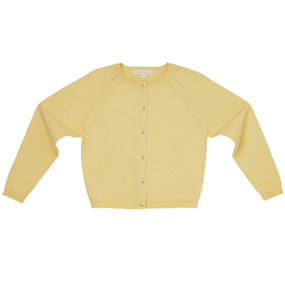 Amity - Pointelle Cardigan - Elderflower Yellow