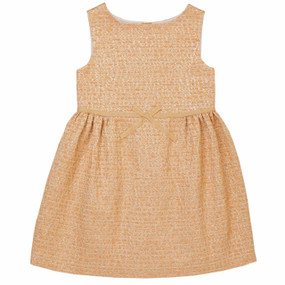Amedee - Jacquard Dress - Gold Peach
