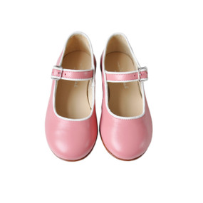 Flavia - Piped Mary Jane - Blush/Off White