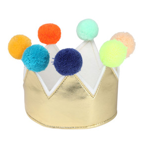 Pom Pom Crown - Gold