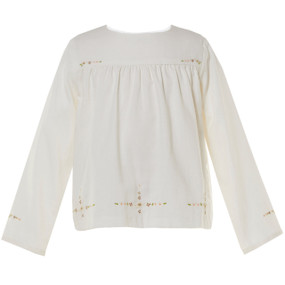 BEATRICE - EMBROIDERED TOP - WINTER WHITE