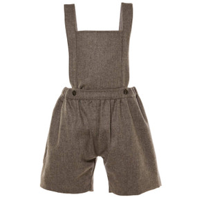 BRAXTON - WOOL CASHMERE SUSPENDER SHORT - CHOCOLATE
