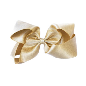 Large Hair Bow - GOLD