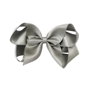 Large Hair Bow - SILVER