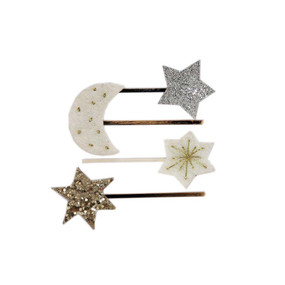 Moon and Star Hair Pins