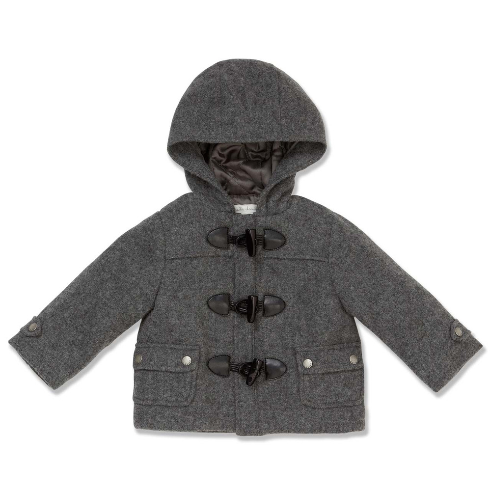 GREY DUFFLE COAT - BABY - Marie-Chantal Ltd