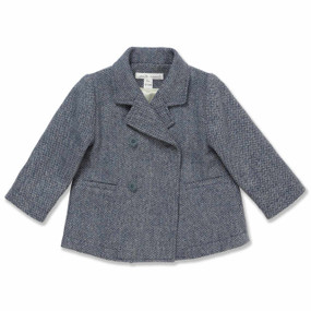 GREY/BLUE WOOL PEA COAT
