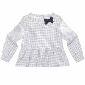 FLUTTER SLEEVE BOW BLOUSE
