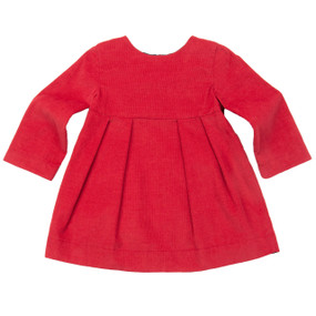 RED CORD DRESS - BABY
