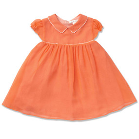 MINI CITRUS PIPED SILK DRESS