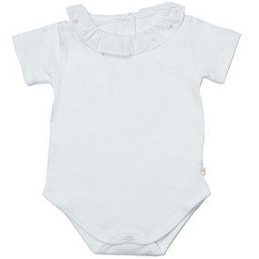 HEART EMBROIDERED ONESIE