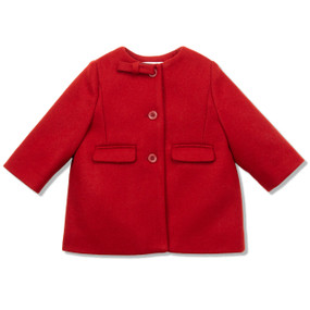 RED BOW COAT - BABY
