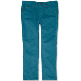 CROWN EMBROIDERED CORD TROUSER