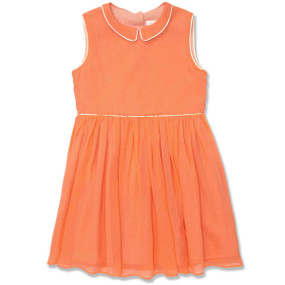CITRUS PIPED SILK DRESS