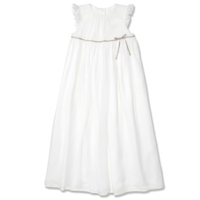 WHITE SILK PRINCESS DRESS