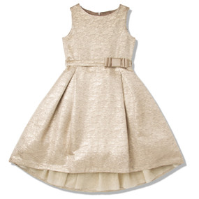 GOLD JACQUARD  PARTY DRESS