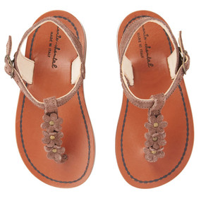 LEATHER FLOWER SANDALS