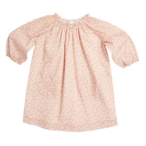 DAISY PRINT BABY RAGLAN SLEEVE DRESS