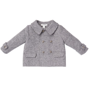 HERRINGBONE BABY BOY COAT